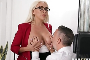 Gorgeous flaxen-haired crumpet receives screwed adjacent to the office