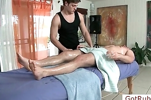 Guy gets firm uncaring massage by gotrub