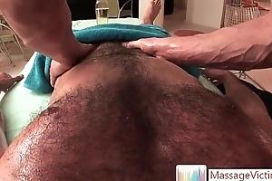 Gianni Lica receives flimsy chest massaged by massagevictim