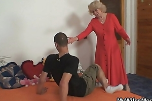 Fit together finds him fucking her old mom