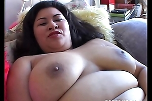 Chubby oriental with big tits
