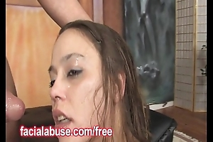 Deepthroat Ho Gags On A Beamy Dong