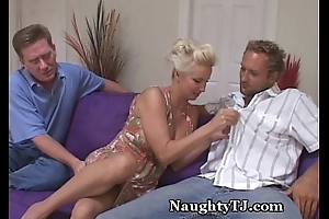 Naughty MILF Shares Bawdy cleft With Friend