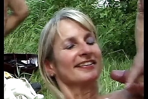 SpermAnneke Bukkake Gangbang cum orgie 9
