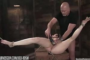Enslavement gloom babe gets pussy licking orgasm