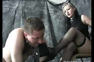 Mistress utterly dominates her slave stinking worthless dog